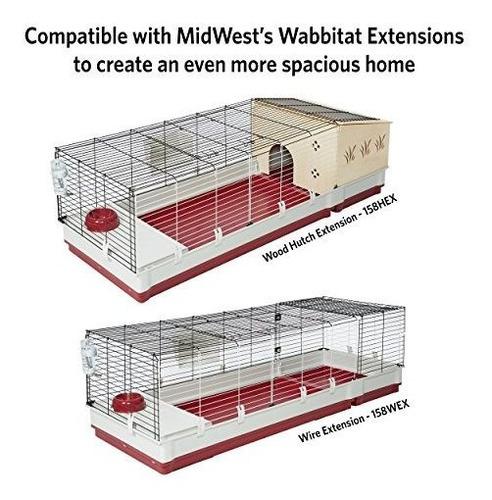 midwest hogar de conejo wabbitat deluxe
