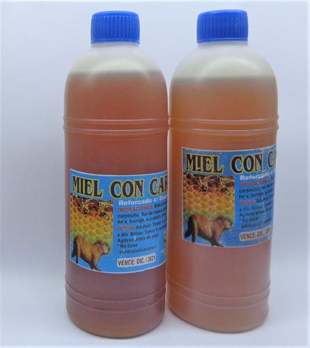 miel con carpincho 100% natural x 2 unidades