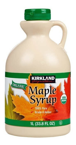 miel de maple syrup orgánica 100% pura made in canada 1 lt.