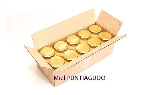 miel natural. caja de 10 frascos de 1 kg. envío gratis.