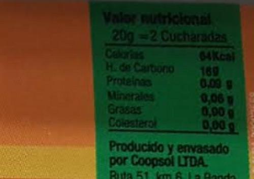 miel orgánica flores de atamisqui 440 grs. certificada