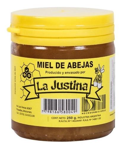 miel pura de abejas  la justina  x250grs.