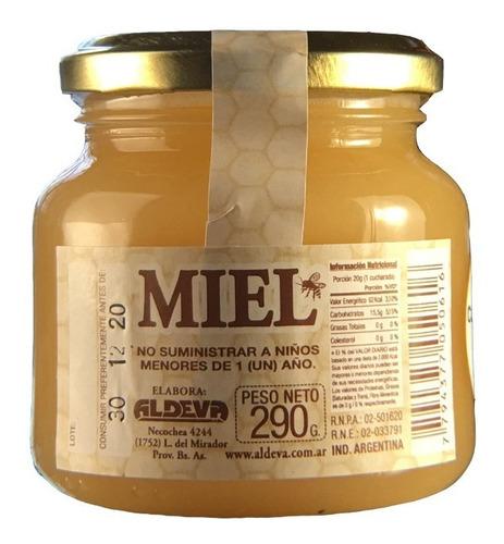 miel pura solida de abeja x 290gr aldeva 3 unidades