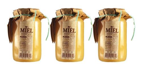 miel pura solida de abeja x 484gr aldeva x 3 unidades
