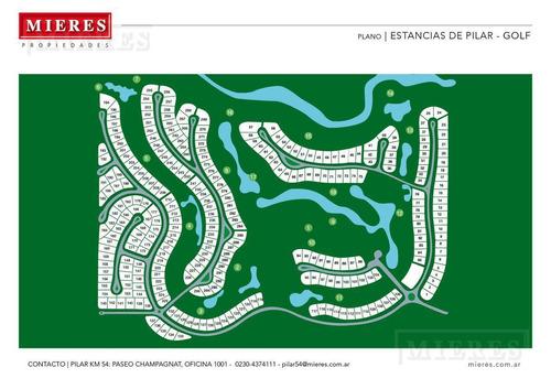 mieres propiedades- terreno de 2464 mts en estancias del pilar