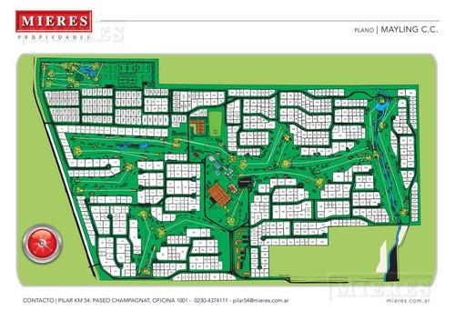mieres propiedades- terreno de 800 mts en mayling club de campo