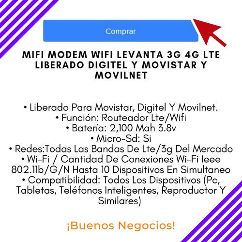 mifi modem wifi levanta 3g 4g lte liberado digitel y movista