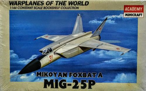 mig-25 p mikoyan foxbat a escala 1/144 academy 4428