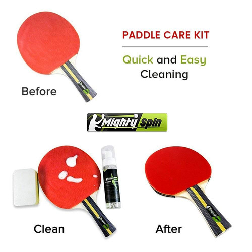 mightyspin ping pong paddle cleaner - table tennis rubber cl