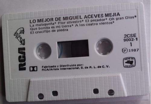 miguel aceves mejia lo mejor  cassette raro 1987 op4