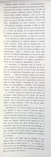 miguel ángel asturias - rumania, su nueva imagen, 1964.