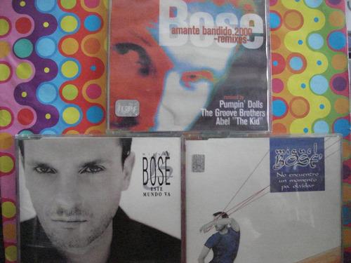 miguel bose cd remixes cencillo singles, 3 cds