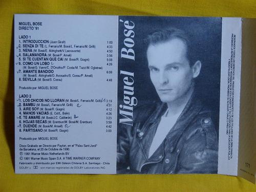 miguel bose directo 91 cassette