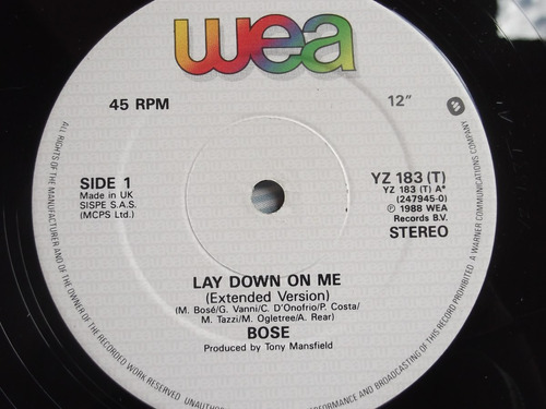 miguel bose -  lady down on me - extended version