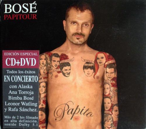 miguel bosé - papito - 1 dvd + 1 cdpromo - digipack