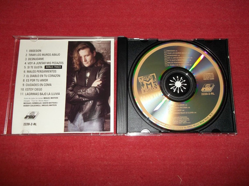miguel mateos - obsesion cd imp ed 1990 mdisk