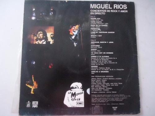 miguel rios / conciertos de rock y amor en directo lp