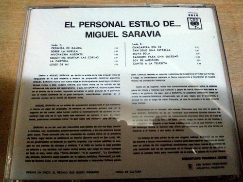 miguel saravia el personal estilo cd bajado de lp original