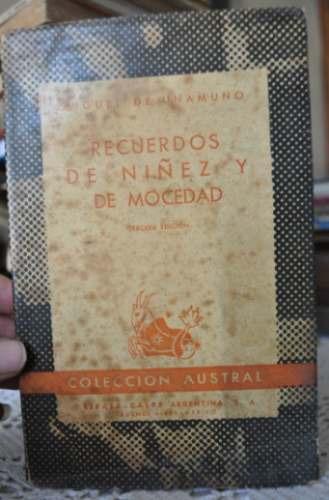miguel unamuno. recuerdos de niñez y de mocedad. 1946