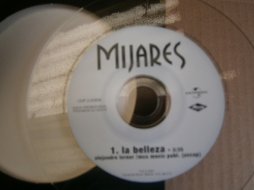 mijares la belleza cd transparente single promo mexico 1998