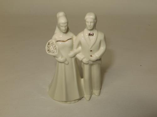 mikasa topper para pastel de boda novios porcelana fina 11cm