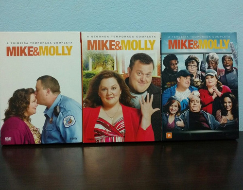 mike e molly 1 a 3 temporada completa dvd original
