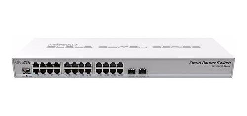 mikrotik cloud router switch crs326-24g-2s+rm l5 c/ nf