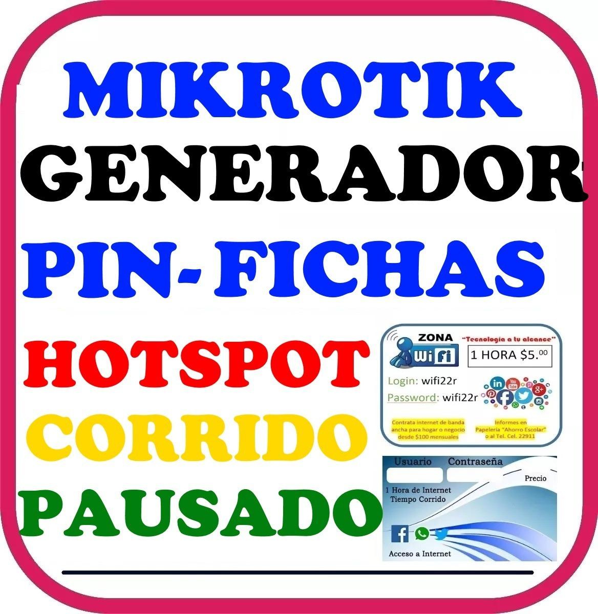 Mikrotik Hotspot+internet Por Pin Horas Dias O Megas Voucher