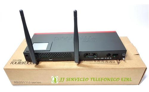 mikrotik perú - router rb2011uias-2hnd-in 128mb ram 5xgbit