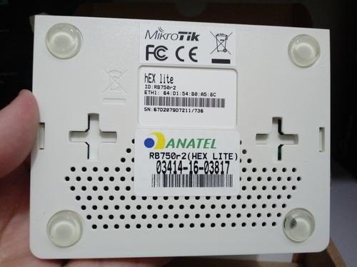 mikrotik-routerboard rb 750r2 hex lite 850mhz 64mb l4