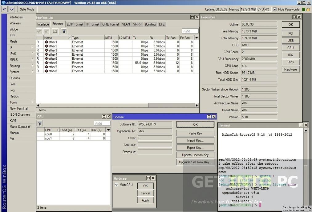 Mikrotik Routeros 6 40 5 Level 6 For Vmware