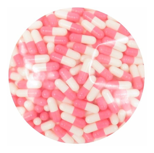 mil capsulas vacias de gelatina #0 rosado/blanco juntas