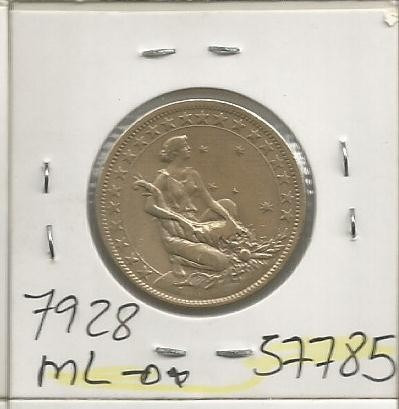 mil reis da fortuna 1927 bronze aluminio v130 -7785