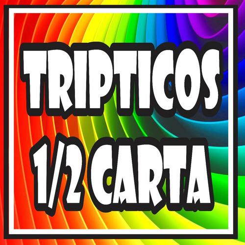 mil tripticos o dipticos a todo color con dobleces $670