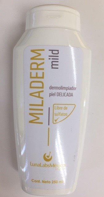 miladerm mild dermolimpiador piel delicada 250 ml
