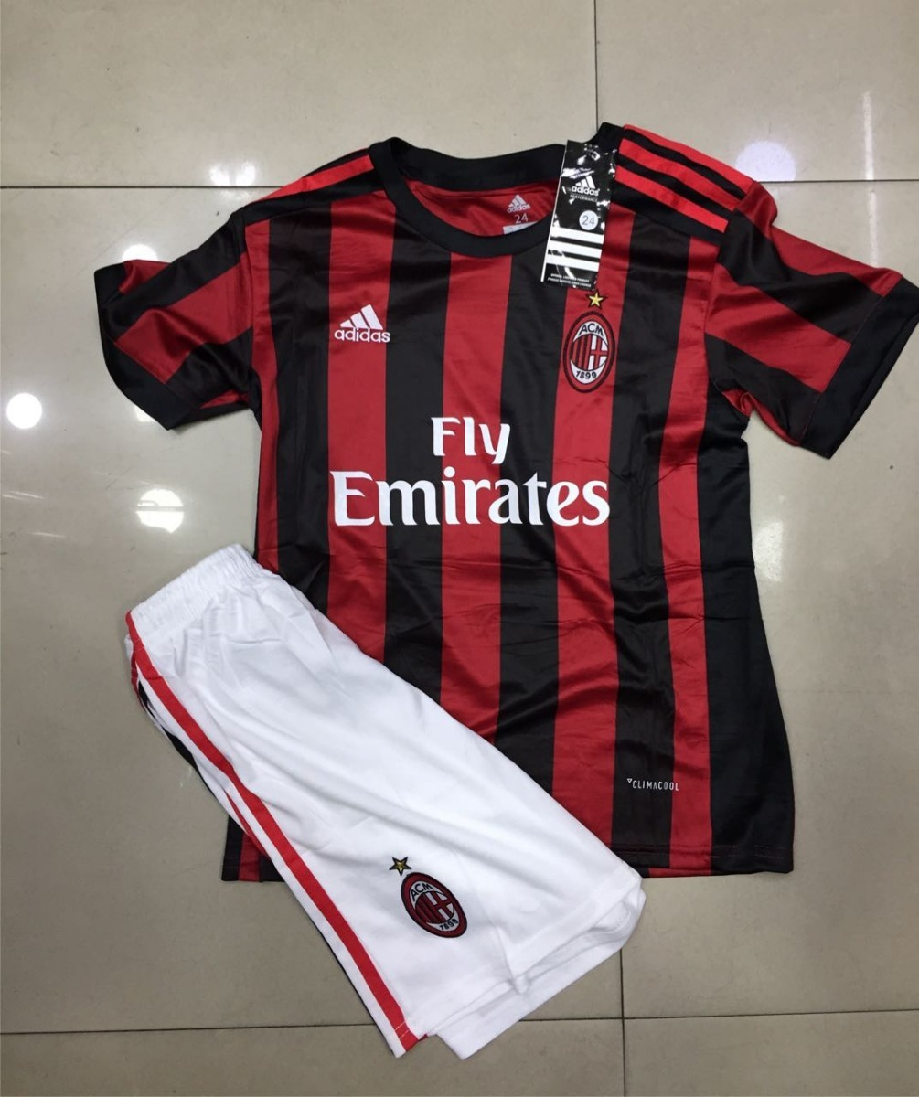 ec46d4bc74b Uniforme Milan Infantil De Time Milan Original Camisa E Shor - R ...