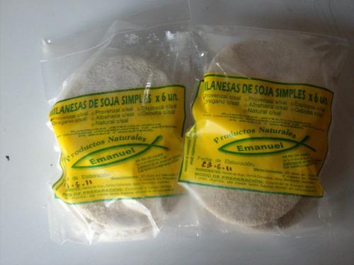 milanesas de soja simples saborizadas artesanales