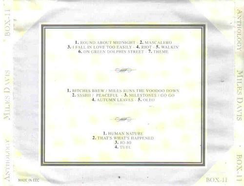 miles davis anthology box com 3 cds - cd importado
