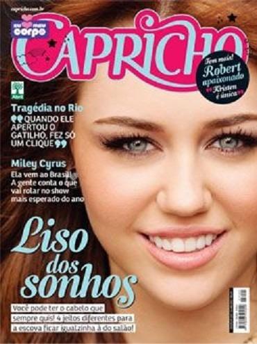 miley cyrus poster calendario+revista capricho