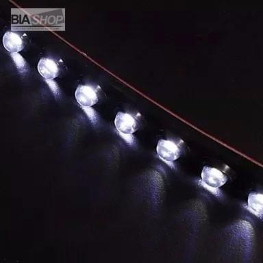 milha luzes com 15 led autoadesivo veicular automotivo carro
