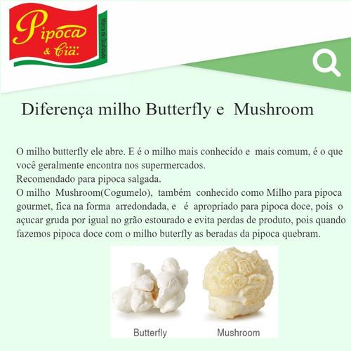 milho para pipoca gourmet mushroom pipoca & cia 5kg