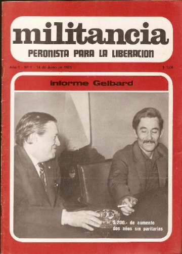 militancia peronista para la liberacion el precio es x c/u