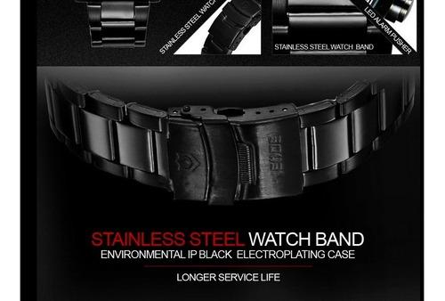 militar dual time digital led quartzo relógio analógico band
