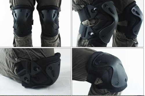 militar tactical set rodilleras / coderas swat airsoft