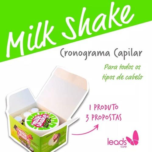 milk shake cronograma capilar mask 300g+3amp 13ml leads care