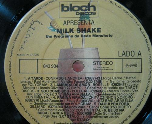 milk shake - lp programa da rede manchete bloch discos 1990