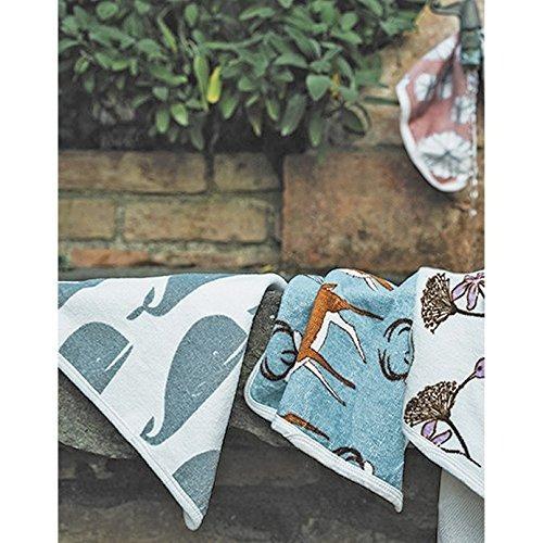 milkbarn - set de tela de baño - blue elephant