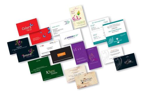 millar tarjetas de presentación brillantes full color