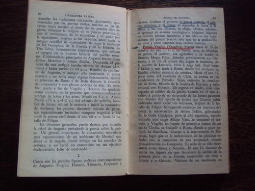millares carlo historia de la literatura latina breviarios