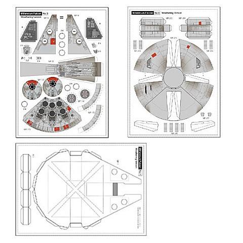 millennium falcon - kit impresso
